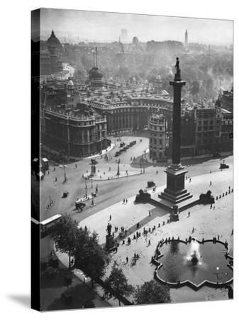 Trafalgar Square, London--Stretched Canvas Print