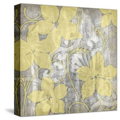 Yellow and Gray I-Jennifer Goldberger-Stretched Canvas Print