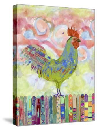 Rooster on a Fence I-Ingrid Blixt-Stretched Canvas Print