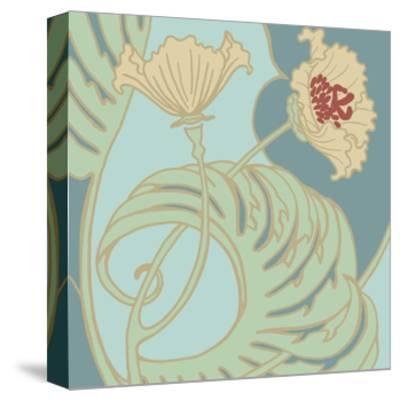 Poppy Flourish II-Jennifer Goldberger-Stretched Canvas Print