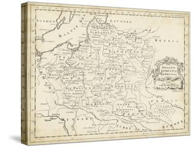 Map of Poland-T^ Jeffreys-Stretched Canvas Print
