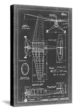 Aeronautic Blueprint IV-Vision Studio-Stretched Canvas Print