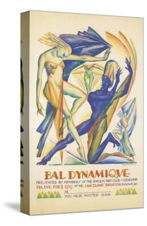 Invitation to Modern Dance Concert, 1929--Stretched Canvas Print