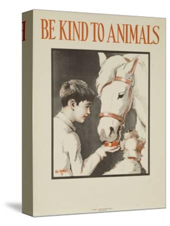 1939 Be Kind to Animals, American Civics Poster, Horse Stall--Stretched Canvas Print