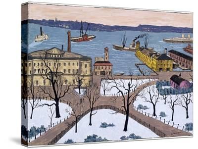 Battery Park-Glenn O. Coleman-Stretched Canvas Print