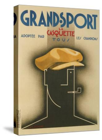French Advertisement for Sporty Cap--Stretched Canvas Print