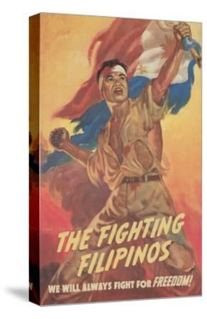 Filipino Freedom Fighter Poster--Stretched Canvas Print