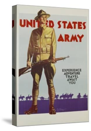 United States Army Poster-Tom Woodburn-Stretched Canvas Print
