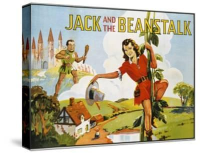 Jack and the Beanstalk Color Print--Stretched Canvas Print