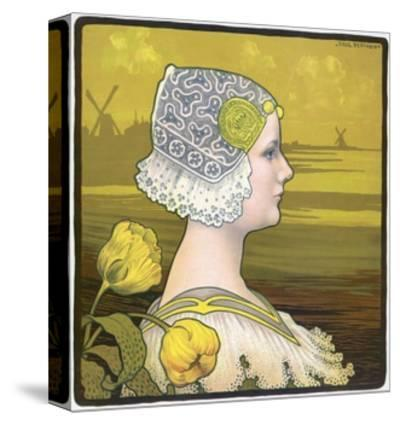La Reine Wilhelmine-Paul Berthon-Stretched Canvas Print