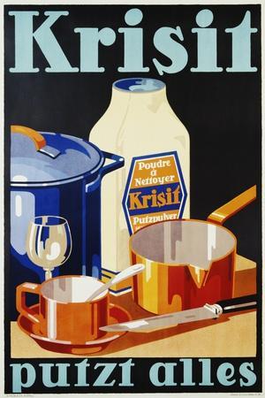 Krisit - Putzt Alles Poster--Stretched Canvas Print