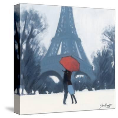 Snow Time For A Kiss-Jon Barker-Stretched Canvas Print