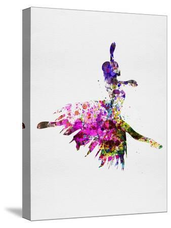 Ballerina on Stage Watercolor 4-Irina March-Stretched Canvas Print