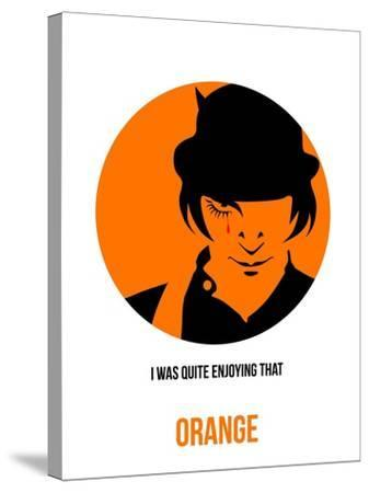 Orange Poster 1-Anna Malkin-Stretched Canvas Print
