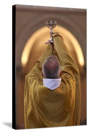 Priest During Eucharist Celebration, Paris, France, Europe-Godong-Stretched Canvas Print