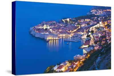 Dubrovnik Old Town at Night, Taken from Zarkovica Hill, Dalmatian Coast, Adriatic, Croatia, Europe-Matthew Williams-Ellis-Stretched Canvas Print
