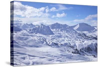 View of Slopes Near Belle Plagne, La Plagne, Savoie, French Alps, France, Europe-Peter Barritt-Stretched Canvas Print