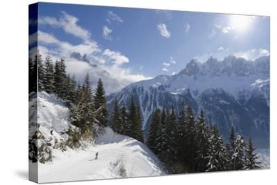 Brevant Ski Area, Aiguilles De Chamonix, Chamonix, Haute-Savoie, French Alps, France, Europe-Christian Kober-Stretched Canvas Print