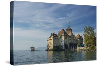 The Castle of Chillon, on Lake Geneva, Montreux, Canton Vaud, Switzerland, Europe-Angelo Cavalli-Stretched Canvas Print