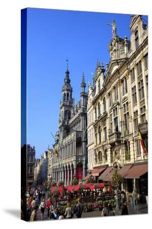 Grand Place, UNESCO World Heritage Site, Brussels, Belgium, Europe-Neil Farrin-Stretched Canvas Print