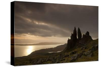 Old Man of Storr at Dawn, Skye, Inner Hebrides, Scotland, UK, January 2011-Peter Cairns-Stretched Canvas Print