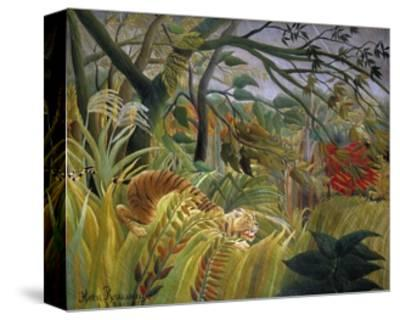 Tiger in a Tropical Storm (Surprised!)-Henri Rousseau-Stretched Canvas Print
