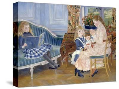 Children's Afternoon at Wargemont-Pierre-Auguste Renoir-Stretched Canvas Print