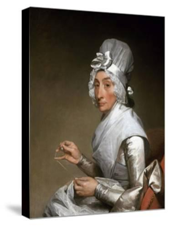 Catherine Brass Yates (Mrs. Richard Yates)-Gilbert Stuart-Stretched Canvas Print