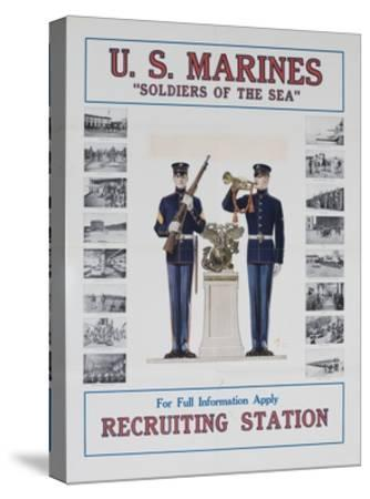 U.S. Marines Recruiting Poster--Stretched Canvas Print