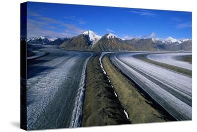 Russell Glacier and Moraines-Paul Souders-Stretched Canvas Print