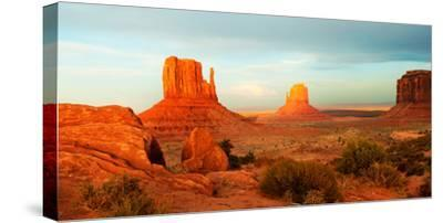 Buttes Rock Formations at Monument Valley, Utah-Arizona Border, USA--Stretched Canvas Print
