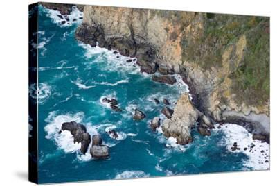 Aerial View of a Coast, Big Sur, Monterey County, California, USA--Stretched Canvas Print