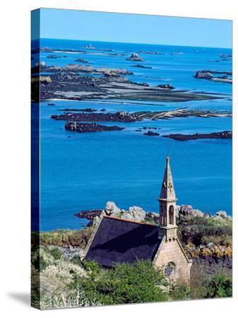 La Trinite Chapel at Ile-De-Brehat Archipelago, Cotes-D'Armor, Brittany, France--Stretched Canvas Print