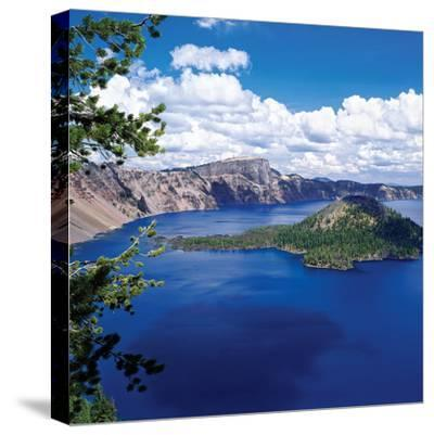 Crater Lake at Crater Lake National Park, Oregon, USA--Stretched Canvas Print