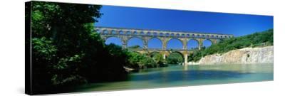 Pont Du Gard Roman Aqueduct Provence France--Stretched Canvas Print