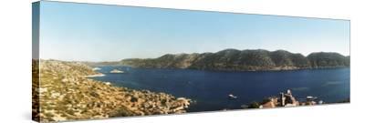 Mediterranean Sea Viewed from the Byzantine Castle, Kekova, Lycia, Antalya Province, Turkey--Stretched Canvas Print
