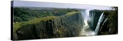 Looking Down the Victoria Falls Gorge from the Zambian Side, Zambia--Stretched Canvas Print