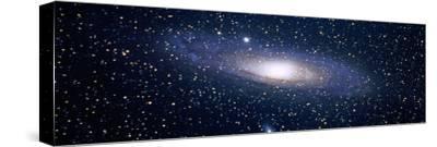 Andromeda Galaxy (Photo Illustration)--Stretched Canvas Print