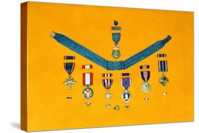 United States Military Medals--Stretched Canvas Print