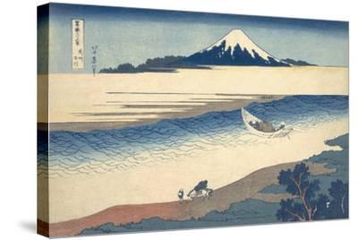 Bushu Tamagawa (The Tama River in Musashi Province)-Katsushika Hokusai-Stretched Canvas Print