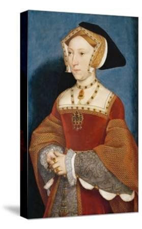 Jane Seymour, Queen of England-Hans Holbein the Younger-Stretched Canvas Print