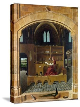 Saint Jerome in His Study-Antonello da Messina-Stretched Canvas Print