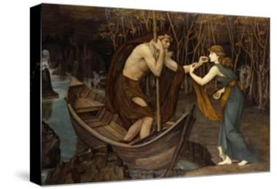 Charon and Psyche-John Roddam Spencer Stanhope-Stretched Canvas Print
