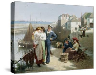 Naval Manoeuvres-Edwin Roberts-Stretched Canvas Print