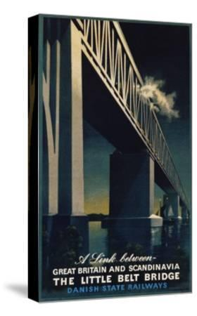 The Little Belt Bridge Poster-Aage Rasmussen-Stretched Canvas Print