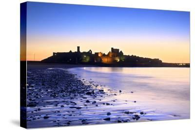 Peel Castle at Dusk, St. Patrick's Isle, Isle of Man-Neil Farrin-Stretched Canvas Print