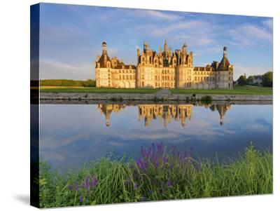 France, Loire Valley, Chateau De Chambord, Detail of Towers-Shaun Egan-Stretched Canvas Print