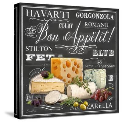 Gourmet Cheese Collection-Chad Barrett-Stretched Canvas Print