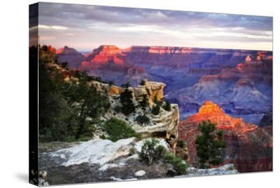 Mather Point Sunset III-Alan Hausenflock-Stretched Canvas Print