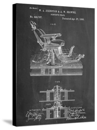 Dentists Chair Patent 1886--Stretched Canvas Print